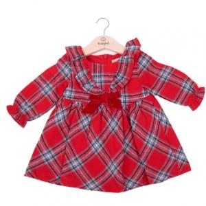 Babybol red check dress
