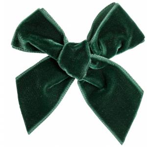 Condor velvet bow green