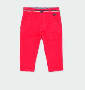 Boboli red micro cord stretch trouser